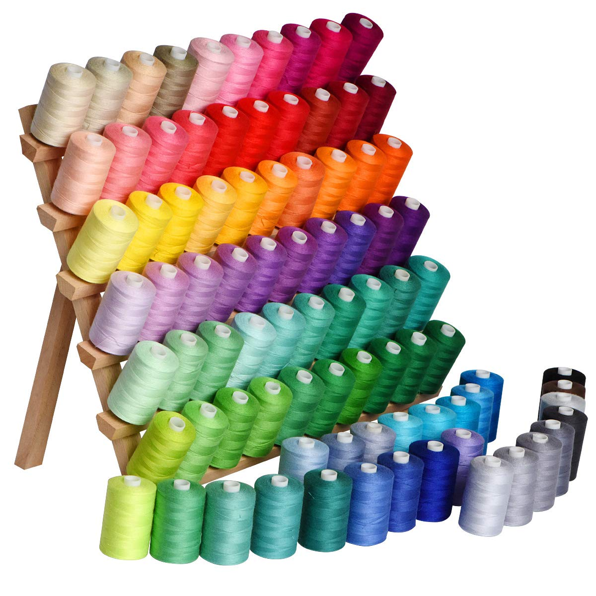 Cotton Threads-sewing thread- 85rolls (85000Y) cotton rainbow colored embroidery thread 40WT by LE PAON