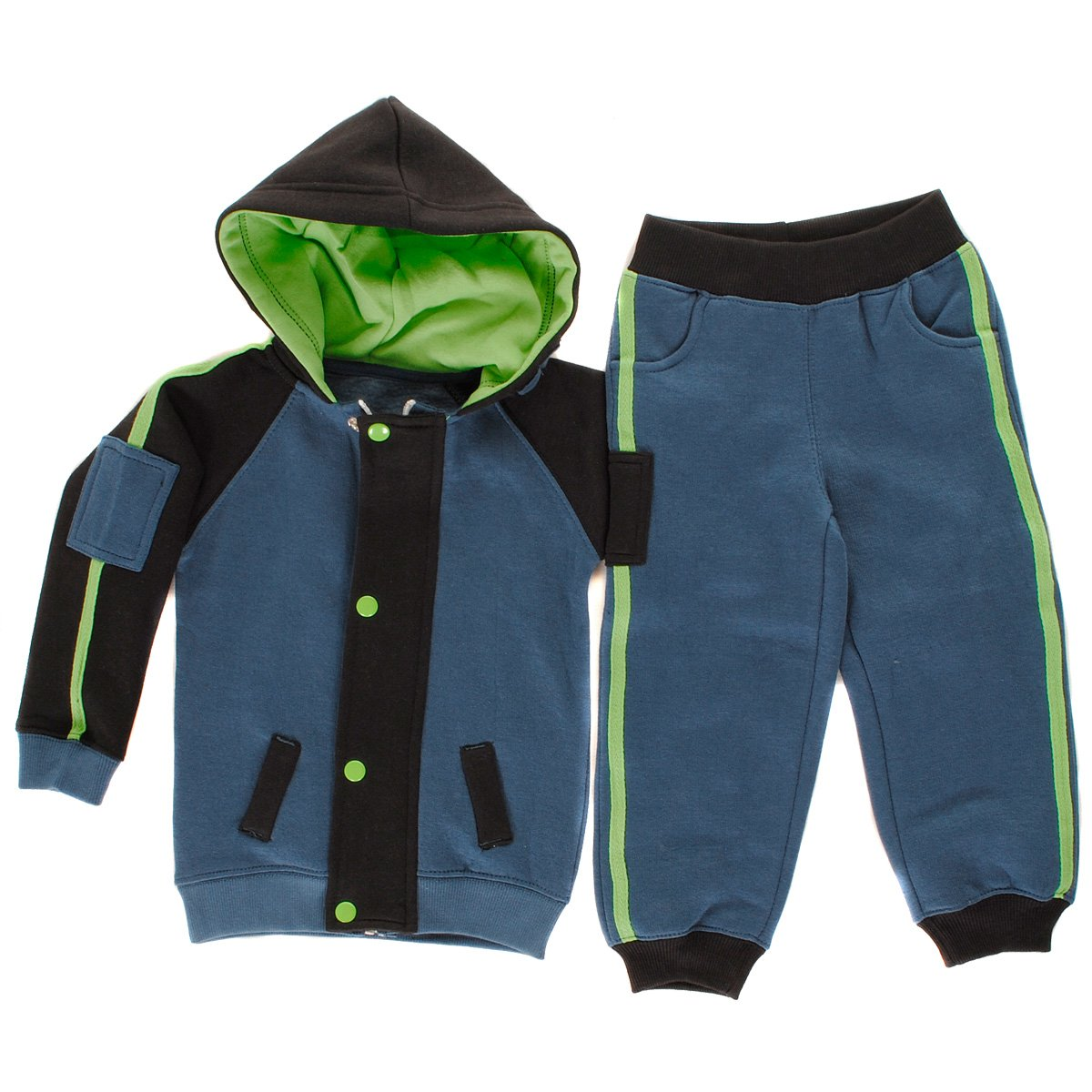 Contrast Stripe Arm Patch Toddlers Babies Fleece Tracksuit Girls Size Paramount