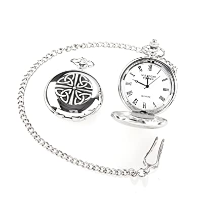 6d77ebb31 Image Unavailable. Image not available for. Color: Irish Crafted Vintage  Style Trinity Pocket Watch ...