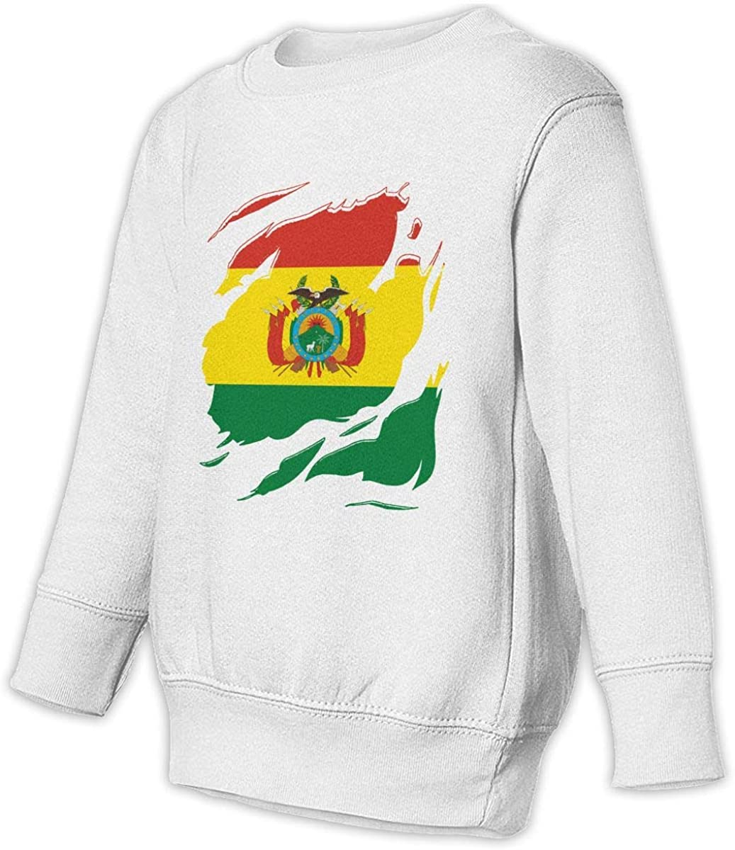 Bolivia National Flag Boys Girls Pullover Sweaters Crewneck Sweatshirts Clothes for 2-6 Years Old Children