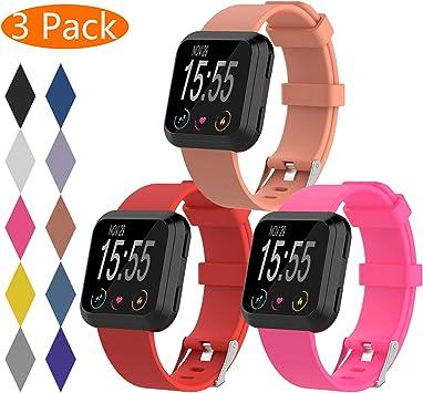KingAcc Correa para Fitbit Versa, Silicona Pulsera de Respueto con Hebilla de Metal Compatible con Fitbit Versa smartwatch: Amazon.es: Electrónica