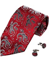 YAB1B04 Multi-Colored Patterned Business Gifts Idea Silk Tie Set 2PT By Y&G