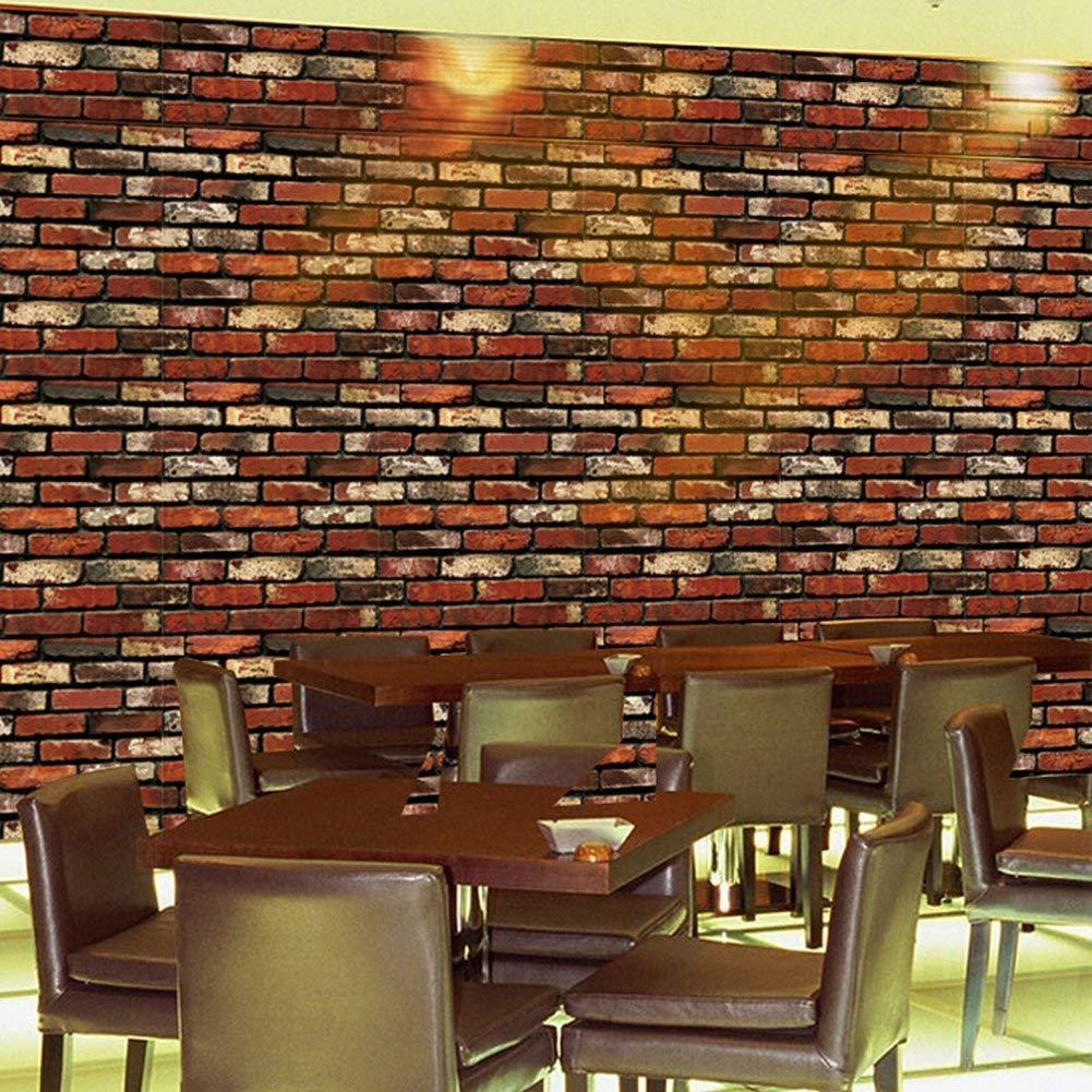 5, A4 Leisu 3D ladrillo papel pintado Dise/ño Creativo Wallpaper adhesivo de pared removible pelar y pegar Para el Hogar Y Embellecimiento De La Pared Buenos Productos 45x200 cm