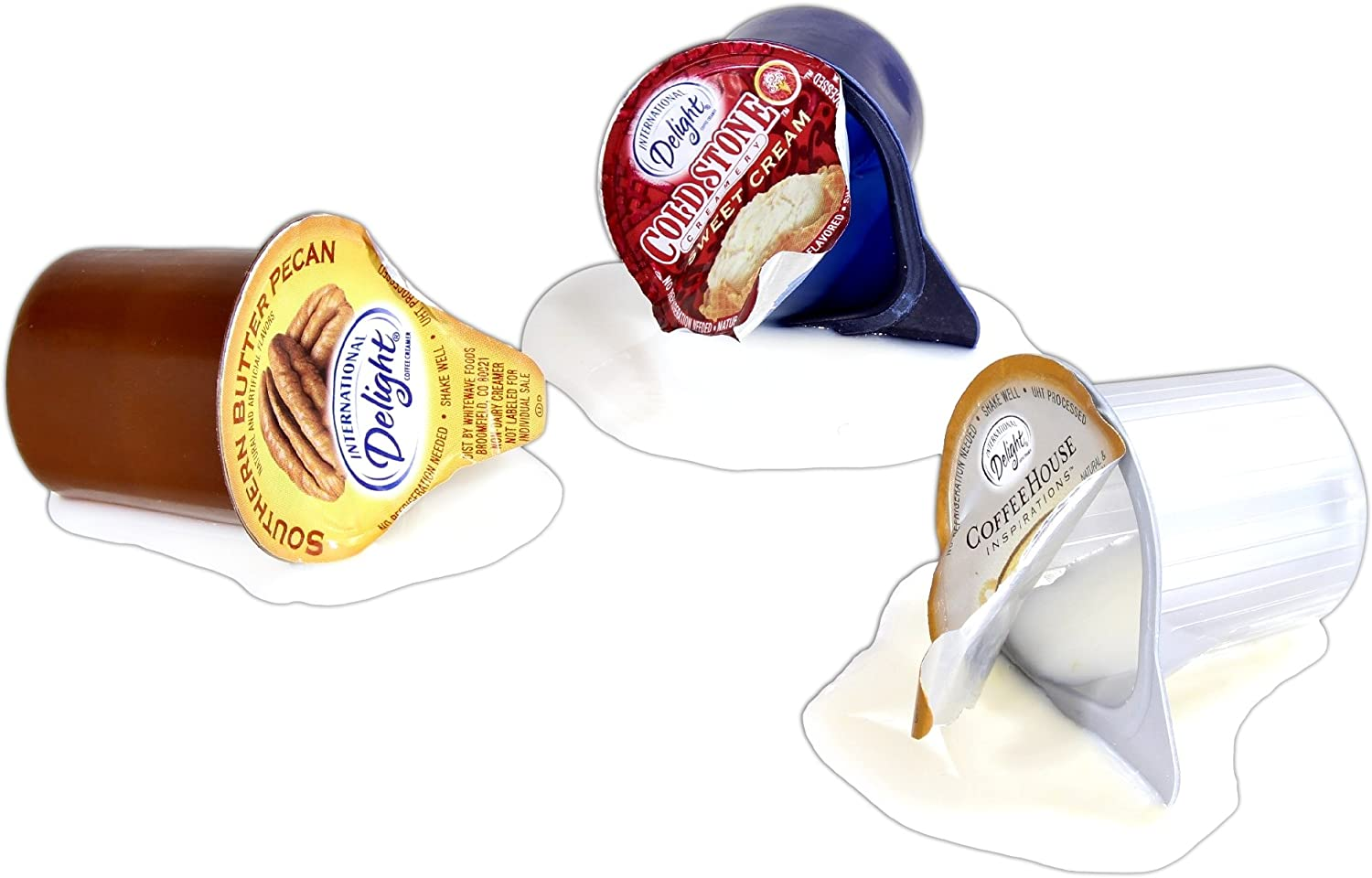 Just Dough It 2'' Spilled Coffee Creamer Cups Replica Prop - Assorted Set of 3