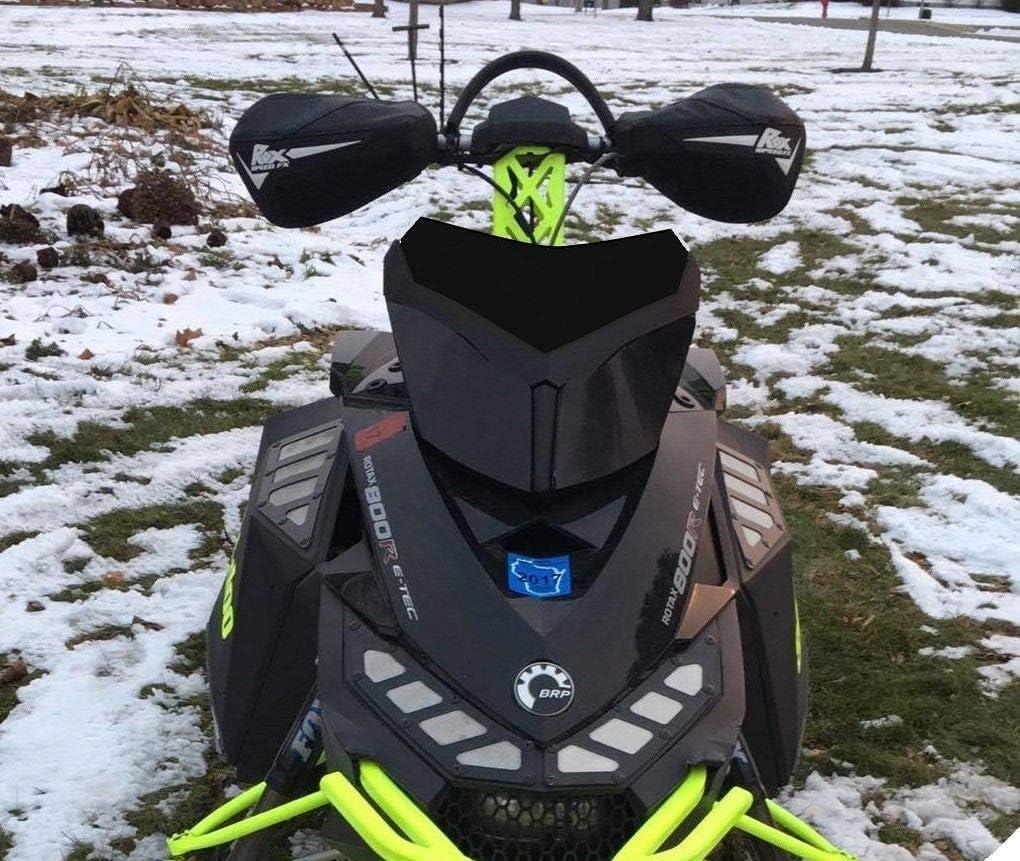 Flat Black Low Windshield Ski-Doo Rev XP 213 Parts 3b