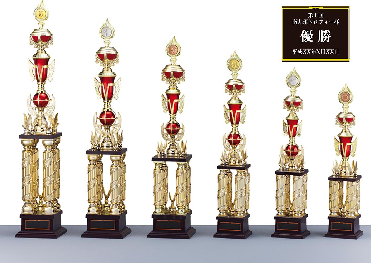 [レーザー彫刻名入れ] GOLD SHACHI 優勝トロフィー TV8901 【パークゴルフ】 B01MY9UYHK 金メダル Bサイズ 高さ93cm 重さ1,510g