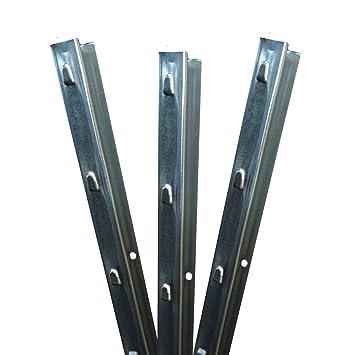 Aquagart Z-Profil Zaunpfosten 1,5 m verzinkt I 30 St/ück Metallzaunpfosten aus Bandstahl 1,2mm stark I hochwertige Zaunpf/ähle f/ür Wildzaun Weidezaun Drahtzaun Wildschutzzaun Knotengeflecht Zaun
