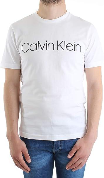 Calvin Klein Hombres Camiseta con Logotipo de algodón orgánico Blanco: Amazon.es: Ropa y accesorios