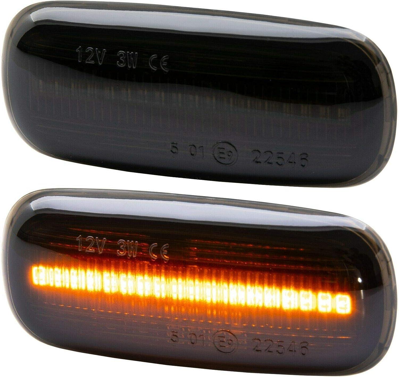 Rm Style Led Seitenblinker Smoke Kompatibel Für Tt 8n A8 4d A2 8z A3 8l A4 8d 7316 1 Auto