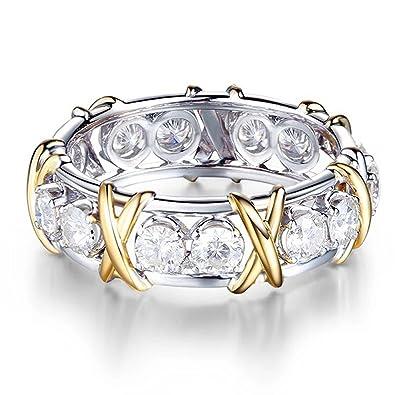 Amazon Com Xiangban Women S Elegant Cz Yellow Gold Filling Ring