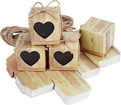 50x Herz Hochzeit Gastgeschenke Box Geschenkverpackung Schachtel Packpapier DE