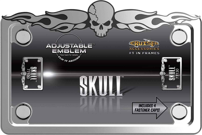 Cruiser Accessories MC Skull Chrome//Chrome//Black
