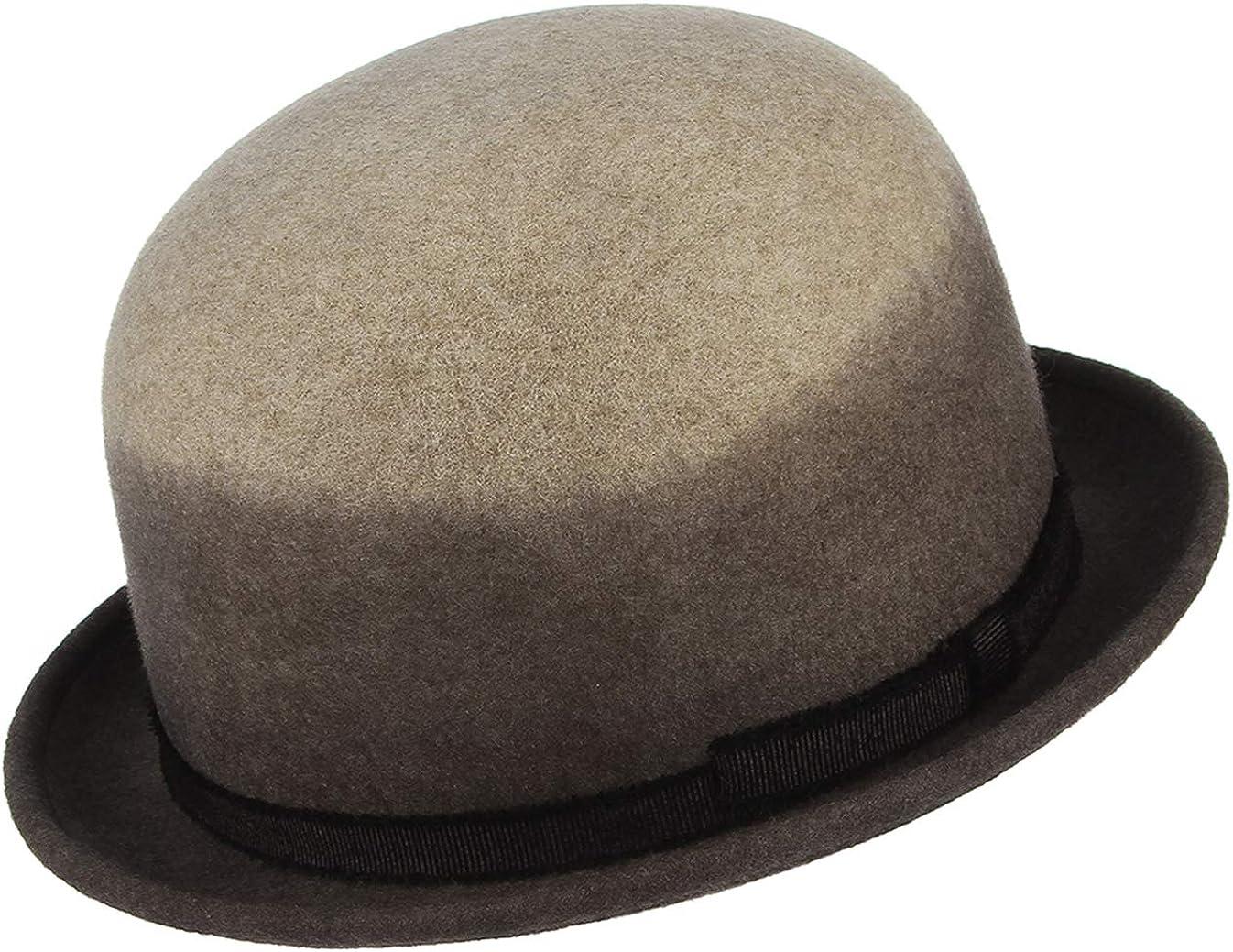 GEMVIE Sombrero Fedora Mujer Vintage Bombín Fiesta Hat Invierno Otoño