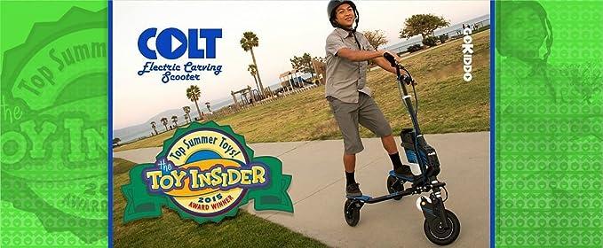 Amazon.com: go-kiddo Colt Talla eléctrico Scooter, Azul ...