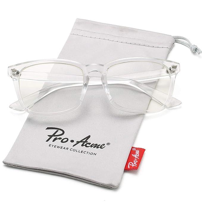 Amazon.com: Pro Acme New Wayfarer – Gafas sin receta médica ...