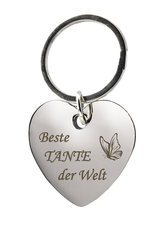 Schlüsselanhänger Rechteck Chrom mit Gravur Vater & Tochter ...