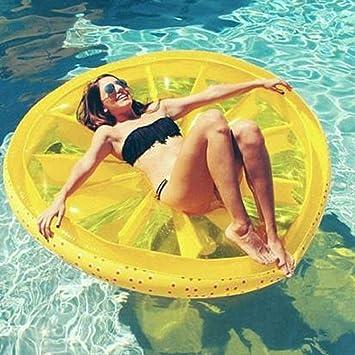Limón Flotante Fila Piscina Flotador Playa Limón Natación Juguete Fruta Slice Flotador Floatie Aire Colchón Swim