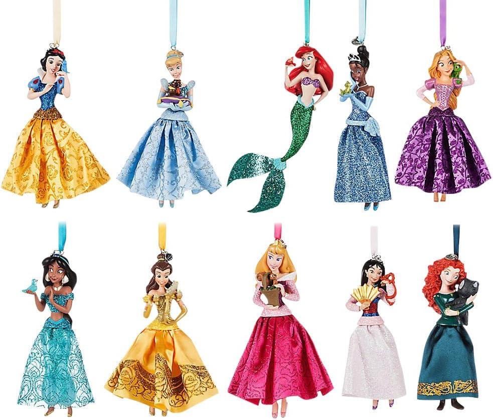Disney/'s PRINCESSES set of 10 Christmas Ornaments