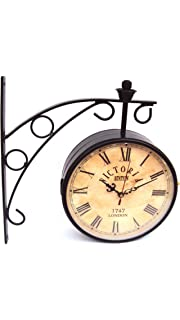 8 inch dual side vintage station wall clock for home bedroom living room