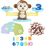 Dimple Monkey Balance Counting Educational Math Toy for Girls and Boys, STEM Toys for Ages 4 5 6 7 8 Year olds, Kindergarten