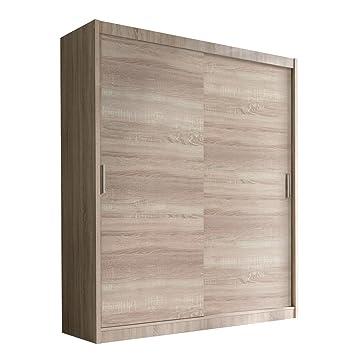 Schwebetürenschrank Alfa Kleiderschrank mit Spiegel, Modernes  Schlafzimmerschrank, Schiebetür Schrank, Schlafzimmer (150 cm - ohne  Spiegel, Eiche ...