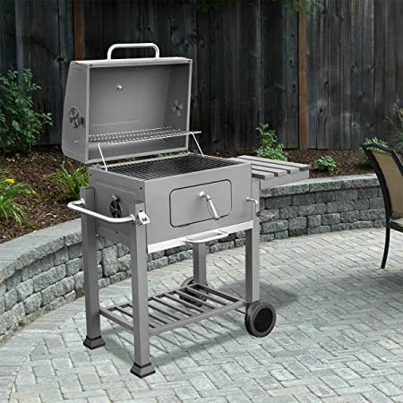 Amazon Com Xtremepowerus Deluxe Charcoal Grill Large Station