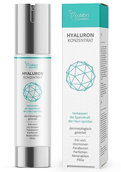 Hyaluronsäure Serum hochdosiert - Testsieger 2019 - natürliche Hyaluron Anti-Aging Creme - 50ml von colibri cosmetics - Natur