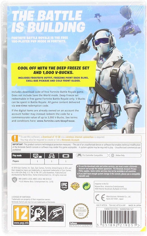 Amazon com: Fortnite: Deep Freeze Bundle (Nintendo Switch): Video Games