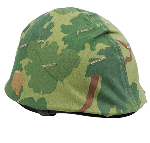 Reproducción WWII US Army M1 Casco + Vietnam Militar estadounidense Reversible Mitchel camuflaje funda para casco: Amazon.es: Deportes y aire libre