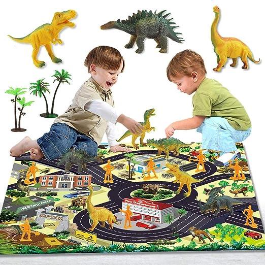 abiet Juego De Dinosaurios Educativo Realista, Conjunto De Juguete ...