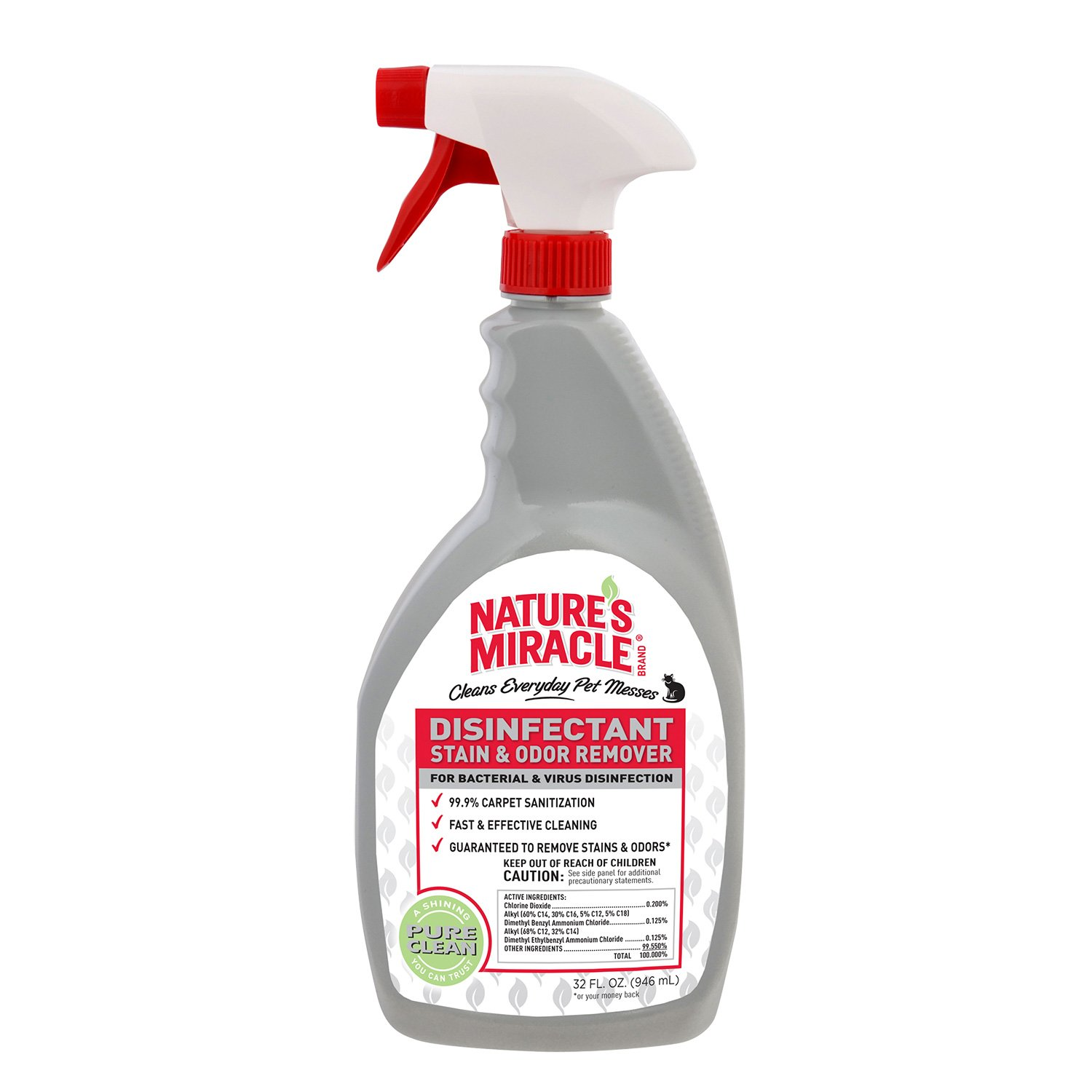 Nature's Miracle NM-5482 Brand Disinfectant Stain/Odor Remover, 32 oz