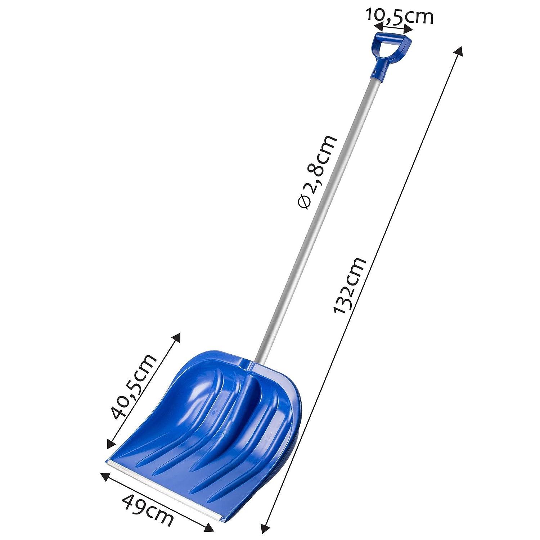 Blattbreite: 49 cm Kunststoff-Blatt Schneeschieber ideale Schneeschippe f/ür kleine und gro/ße Schneemengen Schneer/äumer KADAX Schneeschaufel mit ergonomischem Griff Holzstiel, schwarz stabil