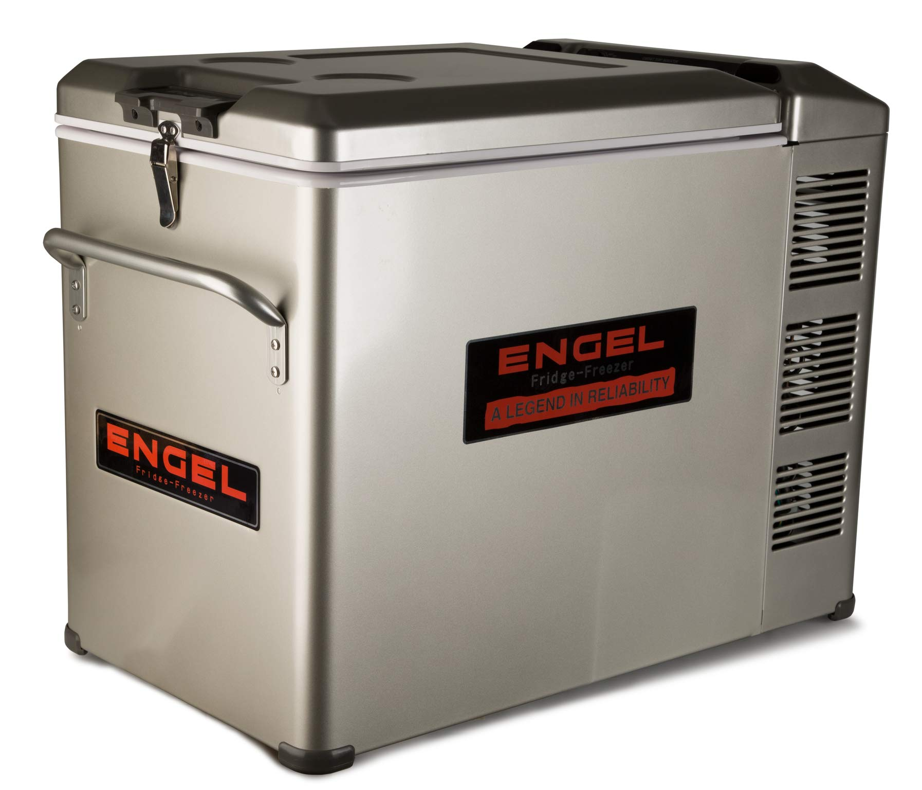 New Engel MT45 Platinum 12v/110v Fridge Freezer 1 Supplied with both AC and DC cords. Built-in battery monitor. 50th Anniversary Edition of the Engel MT45.
