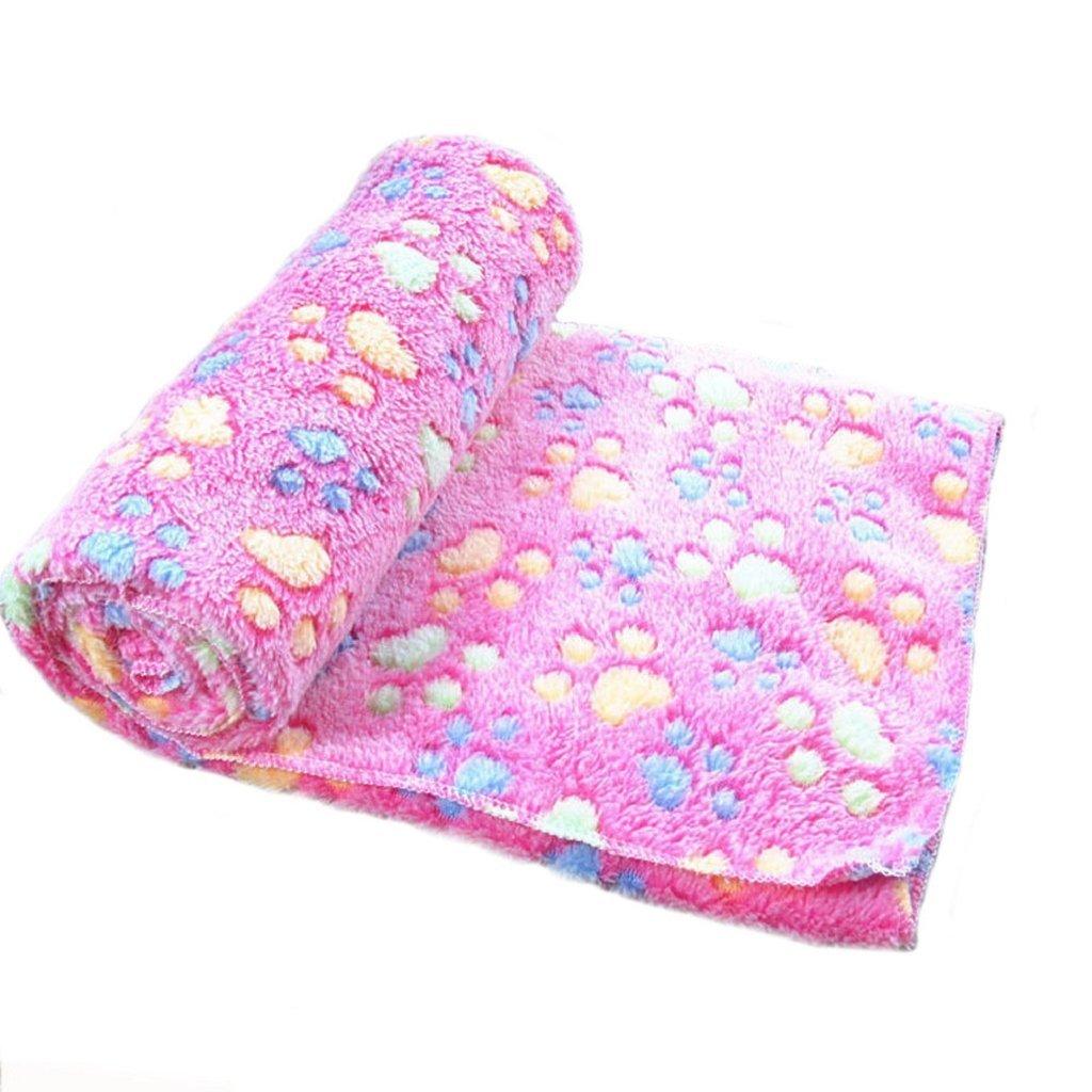 Da.Wa Pet Soft Fluffy Flannel Dog Throw Blanket Sherpa Snuggle Blanket Sleep Mat(Red)