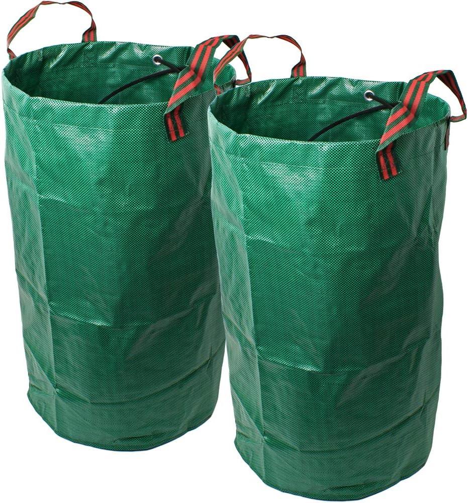 CampTeck 2X 120 litros Bolsa de Jard/ín para Residuos Polipropileno Resistente Saco de Jard/ín Reutilizable