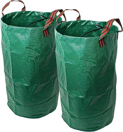 CampTeck 2X 120 litros Bolsa de Jardín para Residuos Polipropileno Resistente Saco de Jardín Reutilizable: Amazon.es: Jardín