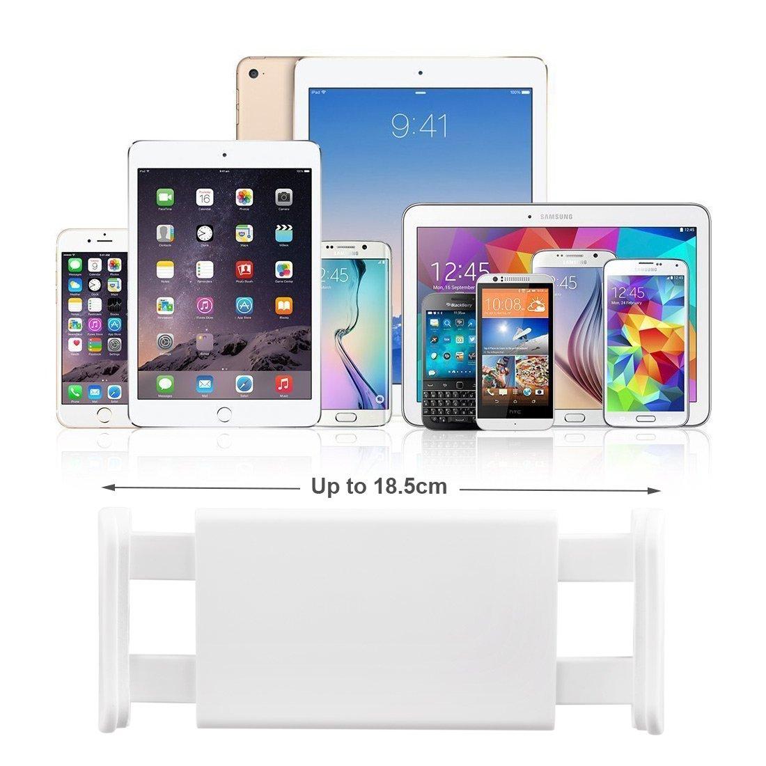 AcTopp Soporte Tablets Soporte Moviles 2017 Nuevo con Tres Betas Abrazos Flexibles Giratorio 360º Para Mesa Asiento Escritorio Cabecera de Cama Mesilla Estirado 11.5-18.5CM para iPad Tablets y Móviles de Pantalla Grande Color Gris