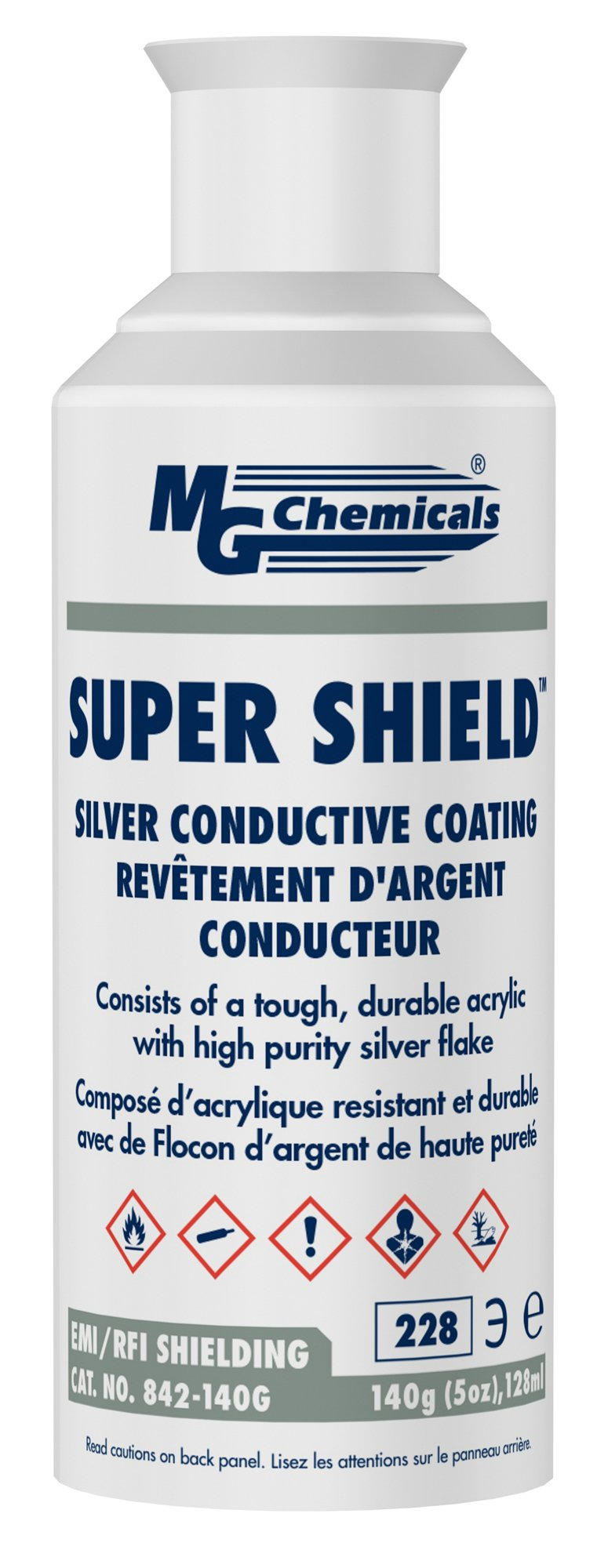 MG Chemicals Super Shield Silver Conductive Coating, 5 oz, Aerosol Can