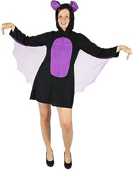 Foxxeo Disfraz de murciélago para Mujeres Disfraz de murciélago de ...