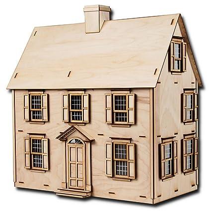 Amazon Com Greenleaf Dollhouses Half Scale Jefferson Dollhouse Kit