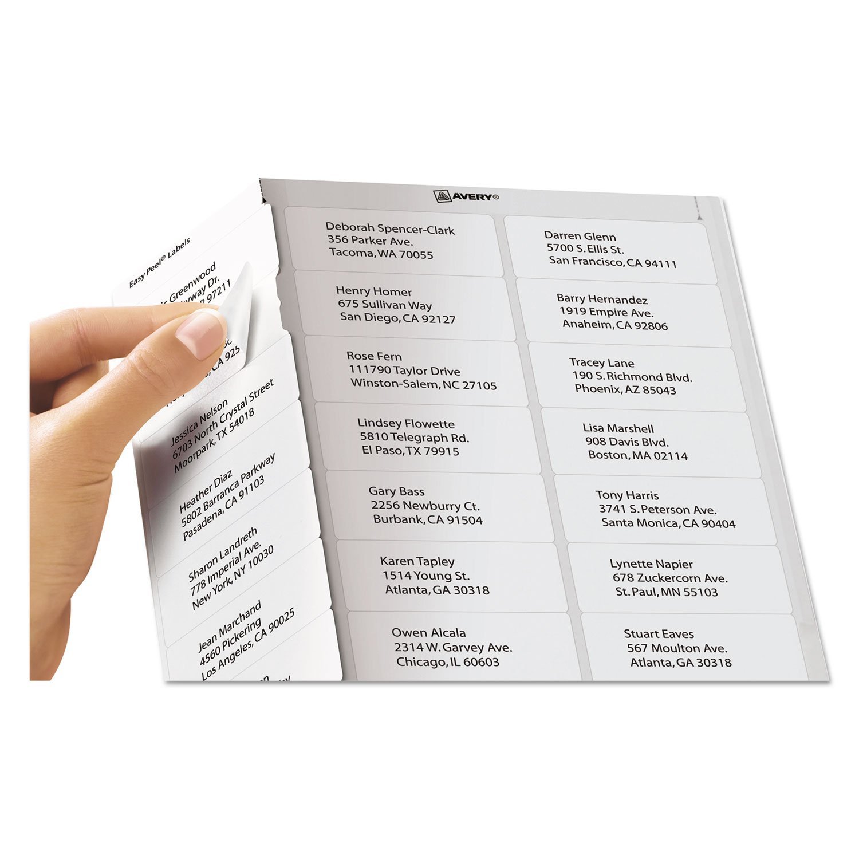 amazon com avery 8460 inkjet labels mailing 1 x2 5 8 3000 pk