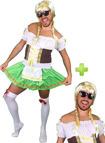 Disfraz de Tirolesa para Hombre - Despedidas de Soltero: Amazon.es ...