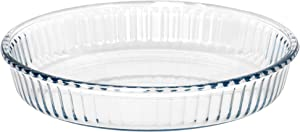 """Red Co. Round Clear Glass Casserole Baking Dish, Oven Basics Bakeware — 1.8 Quart - 10¼"""" x 1¾"""""""