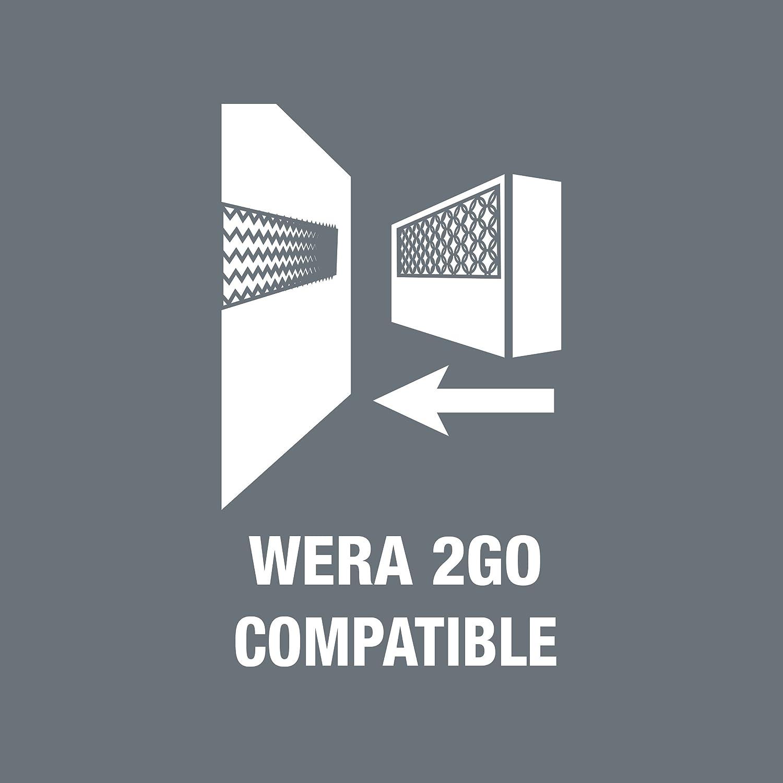 Wera 05057470001 Kraftform Kompakt 400 Porte jeu dembouts 15 parties