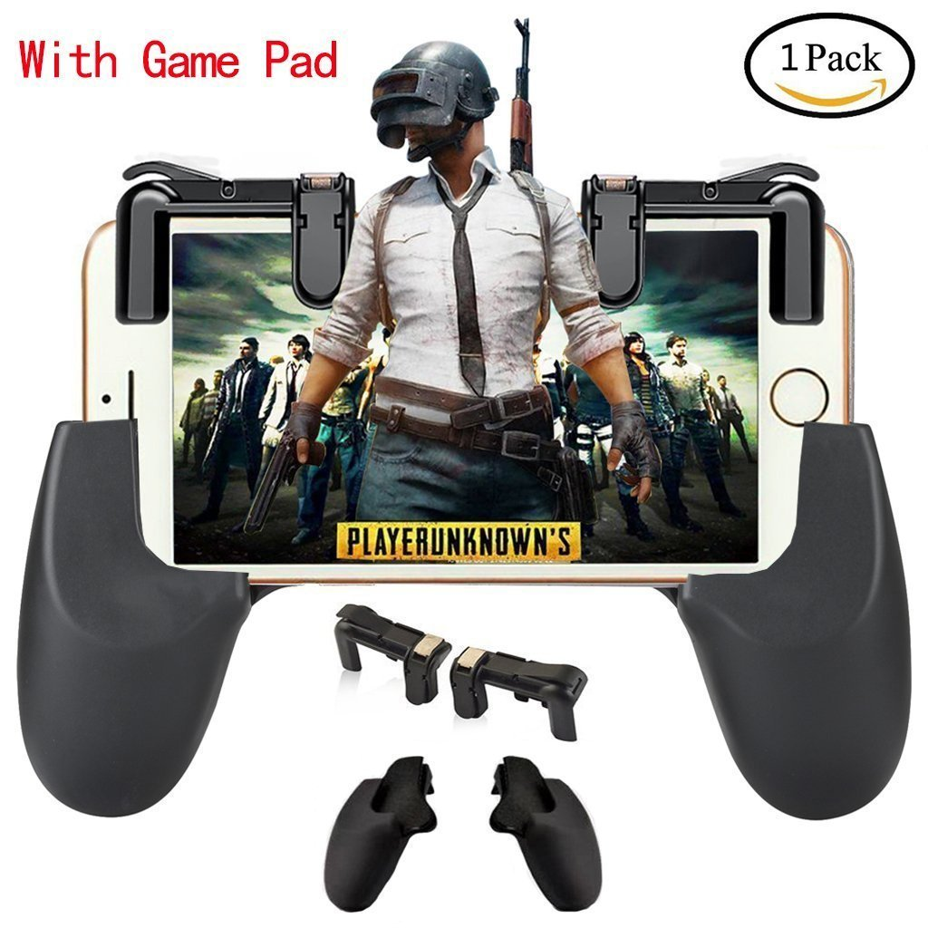 Mobile Game Controller[Upgrade Version], Shoot and Aim Keys L1R1 Shooter Controller for PUBG/Fortnite/Rules of Survival, Mobile Gaming Joysticks for Android IOS