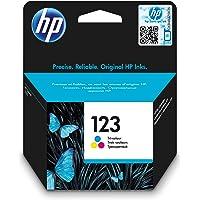HP 123 Tri-color Ink Cartridge, Cyan/Magenta/ Yellow - F6V16AE