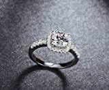 Fashionable 18k White Gold Plated AAA Cz High