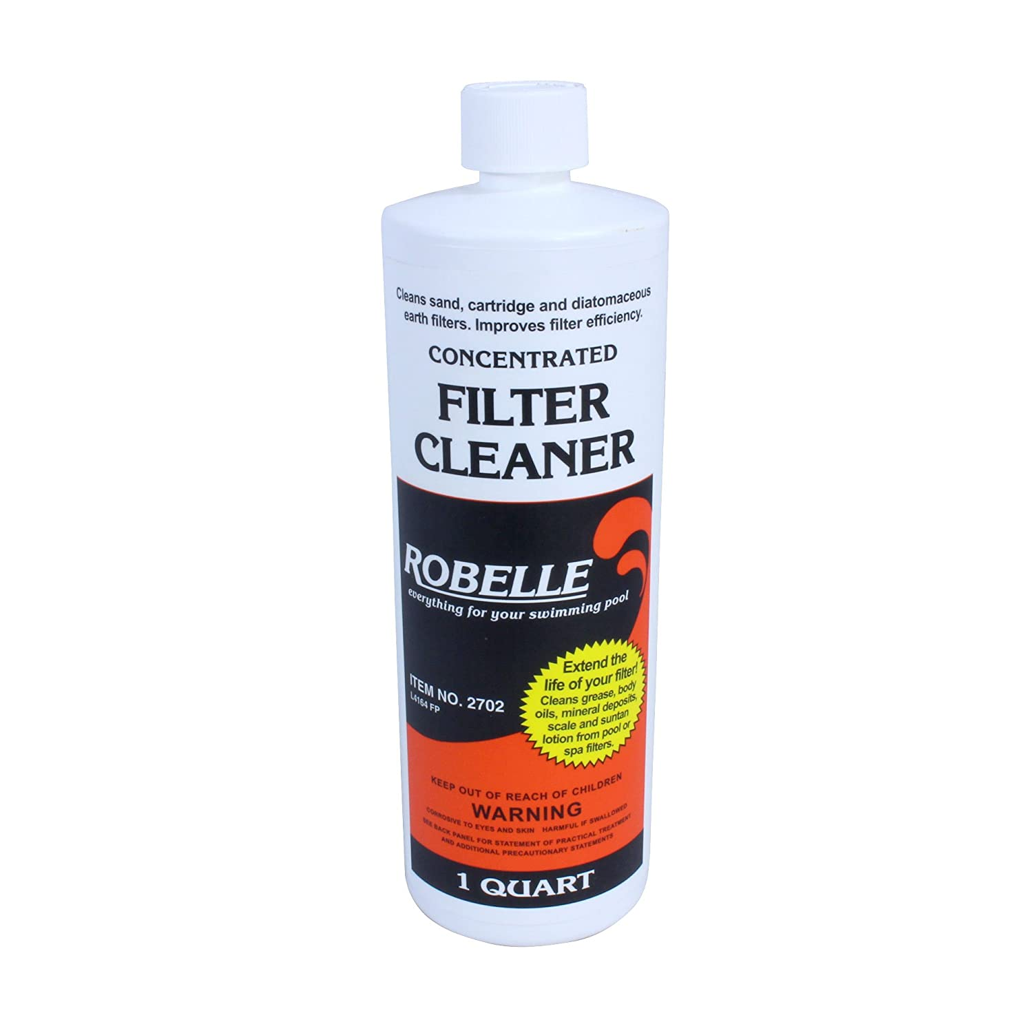 Robelle 2702 Filter Cleaner/Stain Remover for Swimming Pools and Spas, 1-Quart Robelle Industries