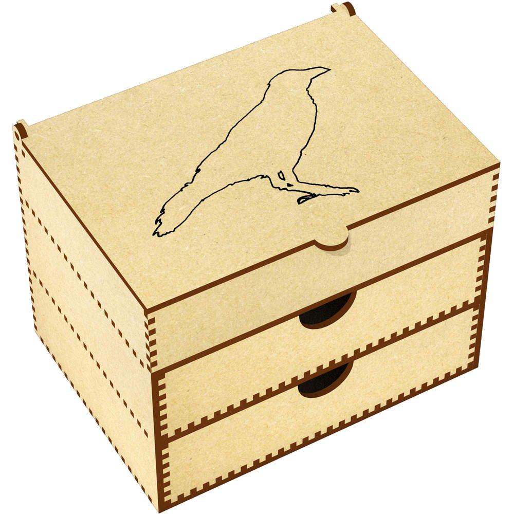 Azeeda 'Crow Outline' Vanity Case / Makeup Box (VC00006087)