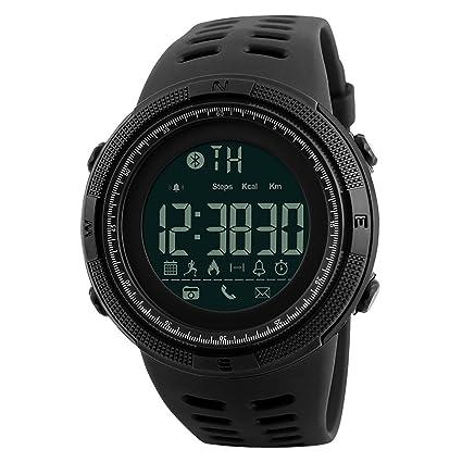 LONGQI Smartwatch Reloj Inteligente Bluetooth Para hombre Smart Digital Reloj con Calendario y Actividad Deportiva